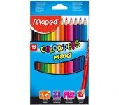 Maped Colorpeps Maxi Jumbo Kuru Boya 12 Renk