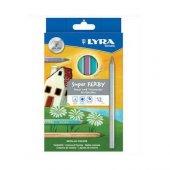 Lyra Super Ferby Metalik Maxi Üçgen Kuru Boya 12 R...