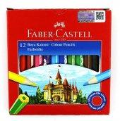 Faber Castell Karton Kutu Kuru Boya Kalemi 12 Renk...