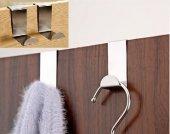 4 Adet Kapı Arkası Metal Askı Krom Kaplama Metal Askı Elbise Askı