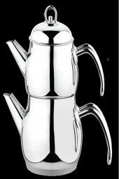 Besa Metal Orta Boy Süzgeçli Çelik Çaydanlık