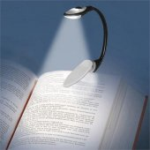 Bükülebilir Mandallı Kitap Okuma Işığı Klipsli Led Gece Lambası