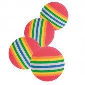 Trixie Kedi Oyuncağı, Renkli Top 3, 5cm