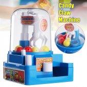 Mini Vinç Makina Top Şeker Sakız Tutma Yakalama Kumbara Oyuncağı