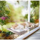 Sunny Seat Cama Asılan Kedi Evi Yatağı Vantuzlu Hamak Uyku Çadırı