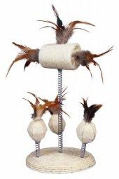 Trixie Kedi Oyuncağı Yaylı Toplar, Tüyler 15X30cm