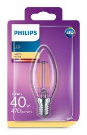 Philips Led Classıc 40w B35 E14 Ww Cl Nd...