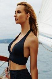 Ewa Angel Siyah Şık Bikini Üst-2