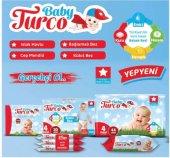 Baby Turco Bebek Bezi Jumbo Beden:1 (2-5Kg) Yeni Doğan 60 Adet + Islak Mendil 100 Yaprak-4