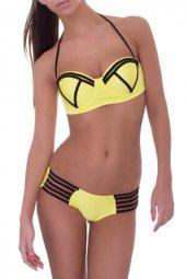 Ewa Angel Sarı Şık Tasarımlı Bikini-3