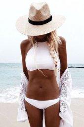 Ewa Angel Şık Beyaz Tankini Bikini-4
