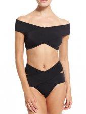 Ewa Angel Siyah Özel Tasarım Bikini Üst-3