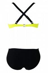 Ewa Angel Sarı Siyah Şık Bikini Takım-2