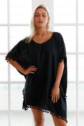 Ewa Angel Şık Siyah Pareo