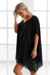 Ewa Angel Şık Siyah Pareo-2