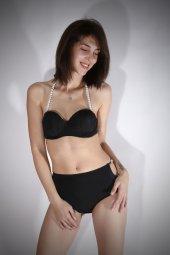 Ewa Angel Siyah Boncuklu Şık Bikini-3