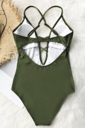 Ewa Angel Yeşil Dantel İşlemeli Mayo-7