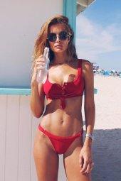 Ewa Angel Kırmızı Şık Bikini Takım-2