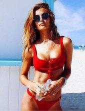 Ewa Angel Kırmızı Şık Bikini Takım-4