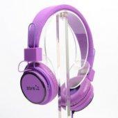 Zore Kablolu Mikrofonlu Kulaküstü Kulaklık Y 6338 Mor