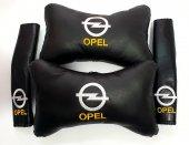 Opel Deri 2 Boyun Yastık 2 Kemer Kılıf Elyaf...