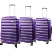 Escape Abs 4 Tekerlekli Bavul Seti Mor