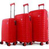 Ehs 10631 Policarbon 3lü Valiz Seti Kırmızı