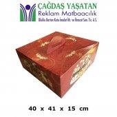 Büyük Kırmızı Yaş Pasta Kutusu (100 Adet) 085