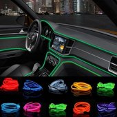 Araç Araba İçi Torpido Ledi Renkli İp Neon İp...