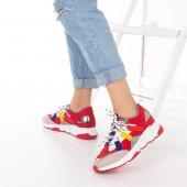 Wilda Kadın Spor Ayakkabı - Bordo-5