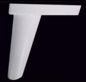 14 Cm Mina Ayak Beyaz Ceviz (10 Adet)