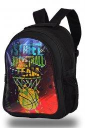Basketbol Desen Siyah Okul Sırt Çantası