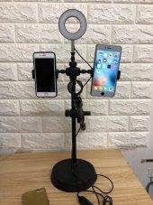Yayıncı Stüdyo Youtuber Mikrofonu Standı Işık ve Telefon Tutucu-4