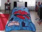 Taç Kristal Spiderman Web Tek Kişilik Lisanslı Battaniye