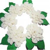 Keçe Yapraklı Kırpık Çiçek Seti 6 Adet