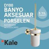 Kale D100 Porselen Tuvalet Fırçaligi Altın Renk...