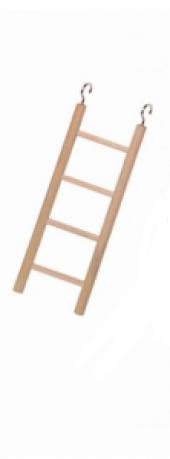 Nobby Doğal Ahşap Kuş Merdiveni 4 Basamaklı 18 X 7 Cm