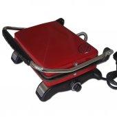 Demir Döküm Ev Tipi Tost Makinası (Dökümix) Kırmızı
