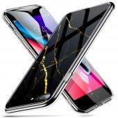 Iphone 7 8 Kılıf, Esr Marble Glass,black Gold Sierra