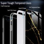 iPhone 7/8 Kılıf, ESR Marble Glass,Black Gold Sierra-2