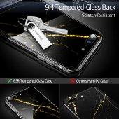 iPhone 7/8 Kılıf, ESR Marble Glass,Black Gold Sierra-3