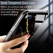 iPhone 7/8 Kılıf, ESR Marble Glass,Black Gold Sierra-5