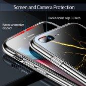 iPhone 7/8 Kılıf, ESR Marble Glass,Black Gold Sierra-6