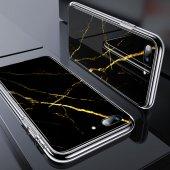 iPhone 7/8 Kılıf, ESR Marble Glass,Black Gold Sierra-8