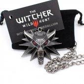 The Witcher 3 Kolye Kurt Kafası Kolye 1 Torba 1 Kart Orijinal