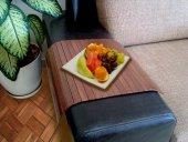 Koltuk Sehpası Ev Ve Ofisiniz İçin Portatif Sehpa Ceviz Renk