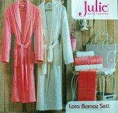 Julie Çift Kişilik Lora Bamboo Jakarlı Aile Bornoz Seti 2163
