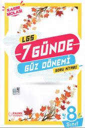 2020 LGS 8. Sınıf 7 Günde Güz Dönemi Soru Kitabı Palme Kitabevi