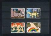 Bahadır Pul Evi, 1981, İngiltere, Uluslararası Engelliler Yılı, 4 Pul Damgasız Tam Seri