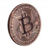 Bronz Kaplama Bitcoin Btc Madeni Para Coin Token Cryptocurrency